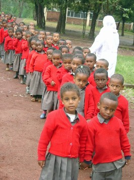 Ethiopian school children